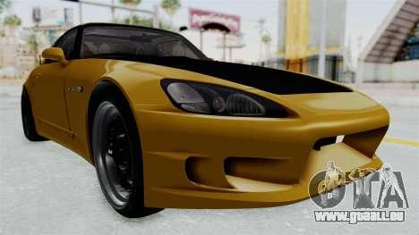 Honda S2000 S2K-AP1 pour GTA San Andreas vue de droite