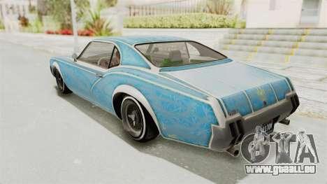 GTA 5 Declasse Sabre GT2 IVF pour GTA San Andreas roue