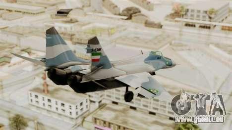 MIG-29A IRIAF pour GTA San Andreas laissé vue