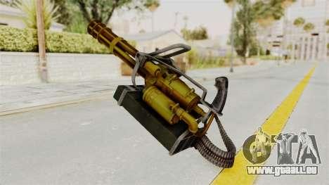 Minigun Gold pour GTA San Andreas deuxième écran