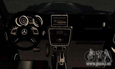 Brabus B65 für GTA San Andreas Innenansicht