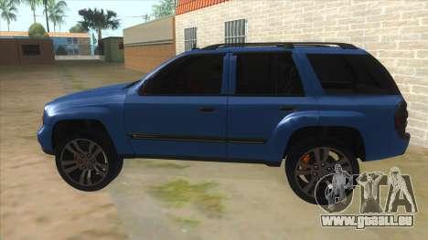 Chevrolet TrailBlazer pour GTA San Andreas laissé vue