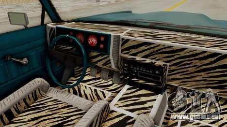 GTA 5 Dundreary Virgo Classic Custom v3 IVF für GTA San Andreas Innenansicht