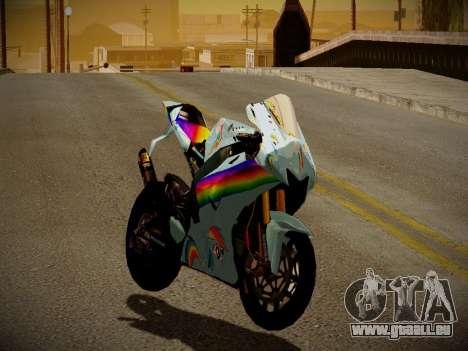 Yamaha YZR M1 2016 Rainbow Dash für GTA San Andreas linke Ansicht