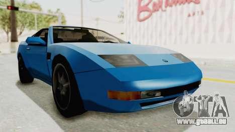 Annis Euros 3.0Z Turbo 1992 für GTA San Andreas zurück linke Ansicht