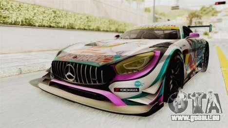 Mercedes-Benz SLS AMG GT3 2016 Goodsmile Racing pour GTA San Andreas vue de droite
