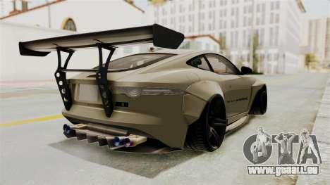 Jaguar F-Type L3D Store Edition für GTA San Andreas zurück linke Ansicht