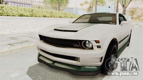 GTA 5 Vapid Dominator v2 IVF pour GTA San Andreas vue de dessus