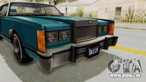 GTA 5 Dundreary Virgo Classic Custom v3 IVF pour GTA San Andreas vue de dessus