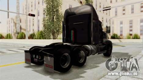 Kenworth T660 Sleeper für GTA San Andreas zurück linke Ansicht