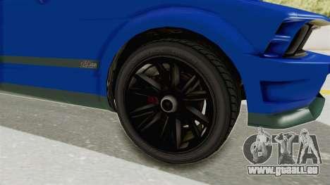 GTA 5 Vapid Dominator v2 IVF für GTA San Andreas Rückansicht