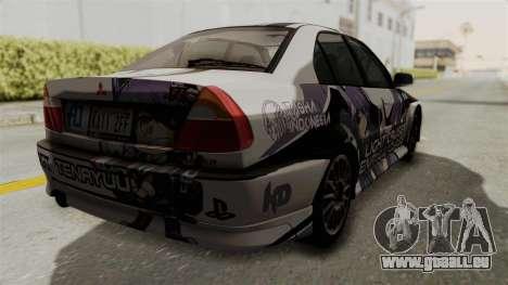 Mitsubishi Lancer Evolution VI Tenryuu Itasha für GTA San Andreas linke Ansicht