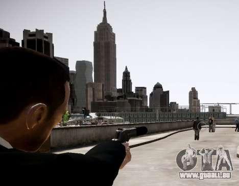 Le silencieux sur l'arme pour GTA 4 secondes d'écran