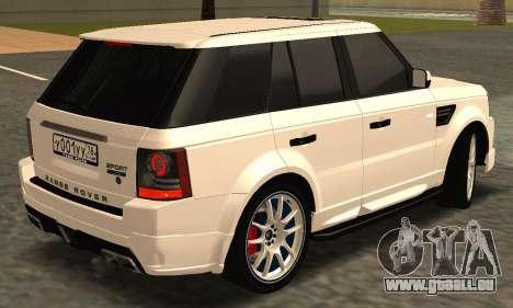 Range Rover Sport Tuning pour GTA San Andreas vue intérieure