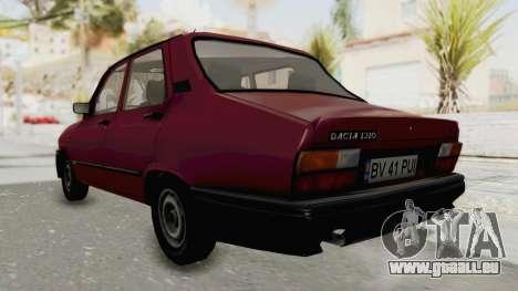 Dacia 1310L 1997 pour GTA San Andreas sur la vue arrière gauche