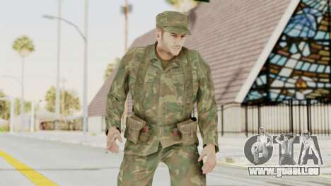 MGSV Ground Zeroes US Soldier Armed v2 für GTA San Andreas