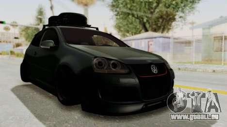 Volkswagen Golf MK5 JDM für GTA San Andreas zurück linke Ansicht