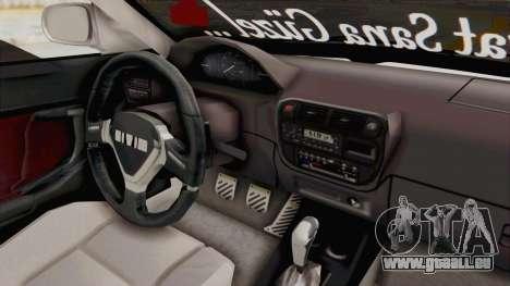 Honda Civic pour GTA San Andreas vue intérieure