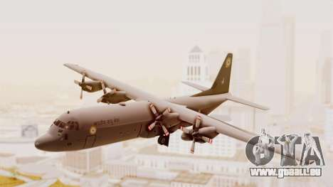C130 Hercules Indian Air Force für GTA San Andreas zurück linke Ansicht