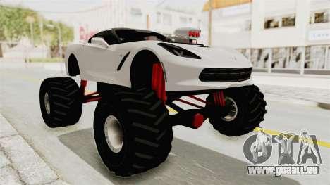 Chevrolet Corvette Stingray C7 Monster Truck pour GTA San Andreas