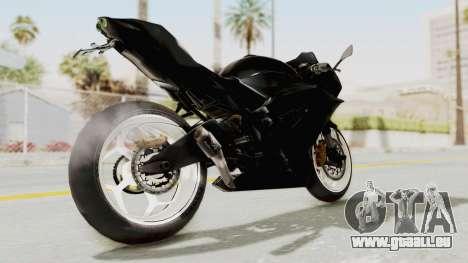 Kawasaki Ninja 250RR Mono Sport pour GTA San Andreas sur la vue arrière gauche