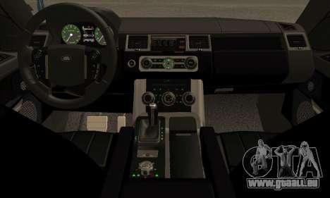 Range Rover Sport Tuning pour GTA San Andreas vue arrière