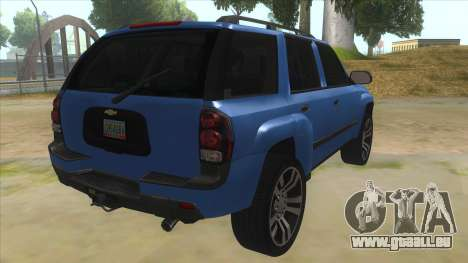 Chevrolet TrailBlazer pour GTA San Andreas vue de droite