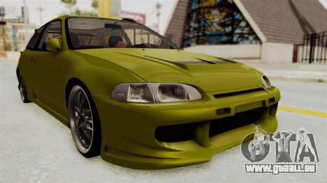 Honda Civic Fast and Furious für GTA San Andreas rechten Ansicht