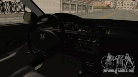Honda Civic Fast and Furious pour GTA San Andreas vue intérieure