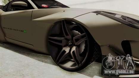 Jaguar F-Type L3D Store Edition pour GTA San Andreas vue arrière