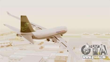 Boeing 747-400 Malaysia Airlines Tabung Haji pour GTA San Andreas vue de droite