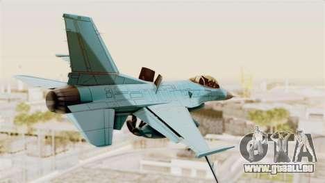 F-16 Fighting Falcon Civilian pour GTA San Andreas laissé vue