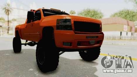 Chevrolet Silverado Long Bed für GTA San Andreas rechten Ansicht