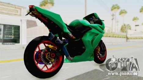 Kawasaki Ninja 250R Race pour GTA San Andreas sur la vue arrière gauche