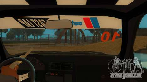 BMW 325i Turbo für GTA San Andreas Innenansicht