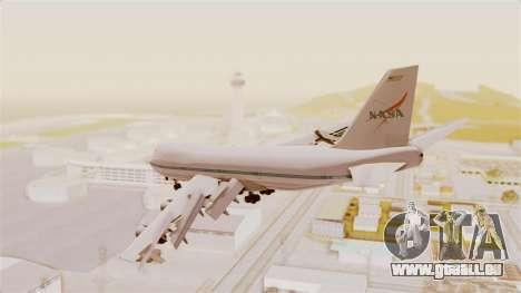 Boeing 747-123 NASA für GTA San Andreas rechten Ansicht