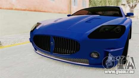 GTA 5 Ocelot F620 IVF für GTA San Andreas Seitenansicht