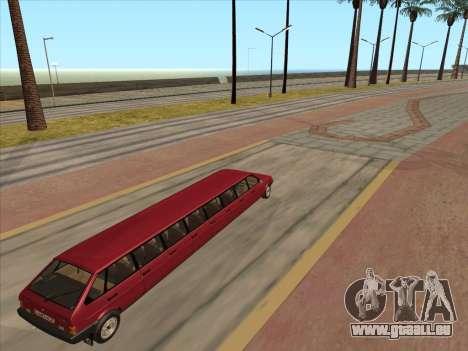 VAZ 2109 17-door pour GTA San Andreas vue arrière
