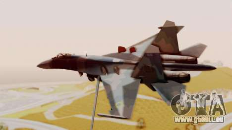 Sukhoi SU-27 Flanker A Ukrainian Air Force pour GTA San Andreas laissé vue