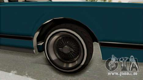 GTA 5 Dundreary Virgo Classic Custom v3 IVF für GTA San Andreas Rückansicht