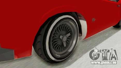 GTA 5 Declasse Sabre GT2 IVF für GTA San Andreas Rückansicht