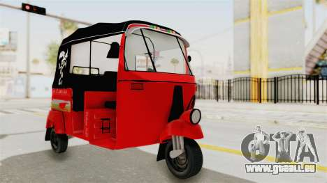 Sri Lanka Three Wheeler Taxi für GTA San Andreas rechten Ansicht