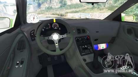 GTA 5 Mitsubishi Eclipse GSX arrière droit vue de côté