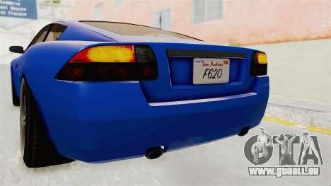 GTA 5 Ocelot F620 IVF für GTA San Andreas Innen