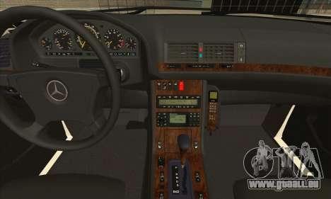 Mercedes-Benz E420 W210 pour GTA San Andreas vue arrière