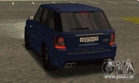 Range Rover Sport Tuning für GTA San Andreas rechten Ansicht