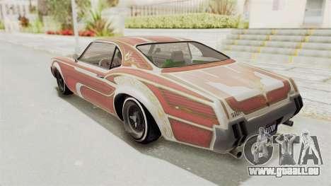 GTA 5 Declasse Sabre GT2 IVF pour GTA San Andreas salon