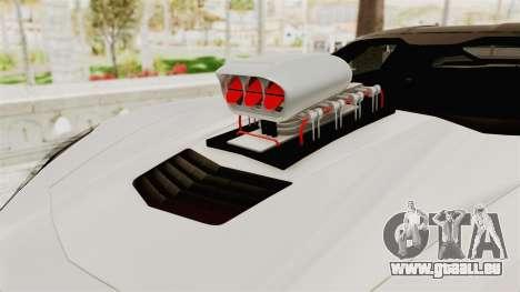 Chevrolet Corvette Stingray C7 Monster Truck für GTA San Andreas Rückansicht