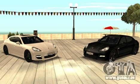 Porsche Panamera Turbo für GTA San Andreas Rückansicht
