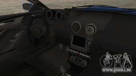 GTA 5 Ocelot F620 IVF pour GTA San Andreas vue intérieure